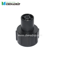 pe tubing end part flush valve